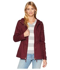 Roxy Open To It Anorak Tawny Port Coat Red