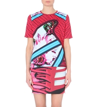 Adidas X Mary Katrantzou Vibrant Print Basic Fitted Tee Multco