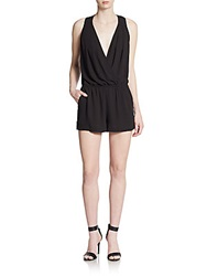 Bcbgmaxazria Wrap Front Short Jumpsuit Black