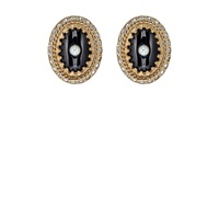 Givenchy Double Sided Stud Earrings Black White