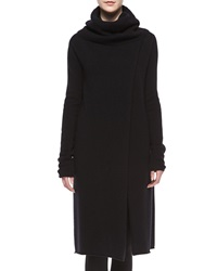 The Row Turtleneck Slit Front Long Cashmere Sweater