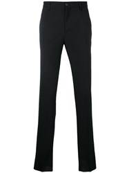 Versace Tailored Straight Leg Trousers Black