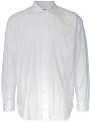 Gold Loose Fit Shirt White