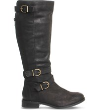 Office Kara Leather Knee High Boots Black Leather