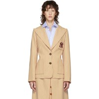 Gucci Beige And Red Ny Yankees Edition Patch Blazer