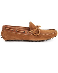 Selected Race Camel Suede Moccasin