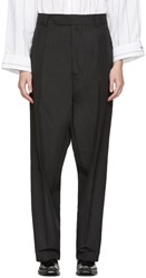 Vetements Black Baggy Suit Trousers
