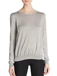 Aquilano Rimondi Lace Back Sweater Grey