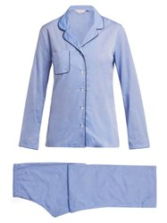 Derek Rose Amalfi 1 Cotton Pyjamas Light Blue