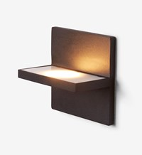 Rich Brilliant Willing Ledge Square Outdoor Wall Light Matte Black 3500K Multicolor