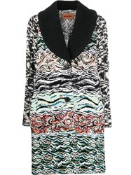 Missoni Intarsia Card Coat Black