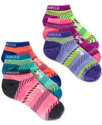 Under Armour Women's Essential Pattern No Show Socks 6 Pack