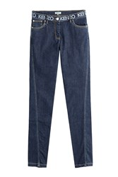 Kenzo Super Stretch Denim Skinny Jeans Blue