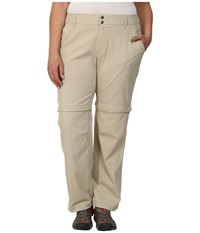 Columbia Plus Size Saturday Trail Ii Convertible Pant Fossil Women's Casual Pants Beige