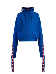 Vetements X Champion Hooded Sweatshirt Blue