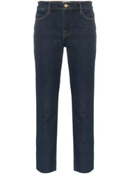 Frame Le High Straight Leg Jeans Blue