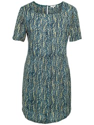 Fat Face Louisa Antique Woodblock Dress Vintage Blue