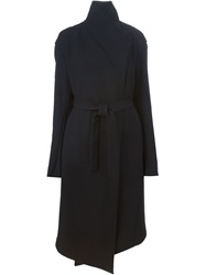 Lost And Found Long Belted Coat Black