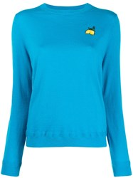 Chinti And Parker Patch Detail Jumper Blue