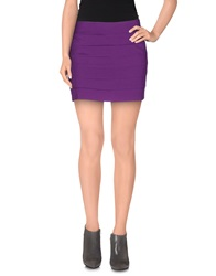 Silvian Heach Mini Skirts Purple