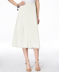 Inc International Concepts A Line Midi Skirt Only At Macy's Washed White