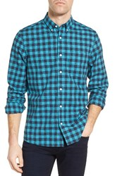 Nordstrom Men's Men's Shop Slim Fit Washed Gingham Sport Shirt