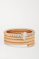 Repossi Blast 18 Karat Rose Gold Diamond Ring 53