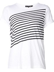 Rag And Bone Rag And Bone Stripe T Shirt White
