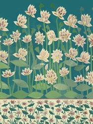 Arjumand's World Venice Jaipur Dream Printed Wallpaper Green