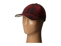 Woolrich Heritage Plaid Ballcap W Sherpa Lining Red Black Caps