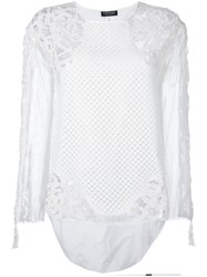 Twin Set Mesh Blouse White