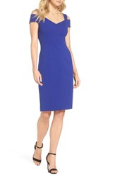 Eliza J Cold Shoulder Sheath Dress Cobalt