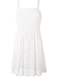 Michael Michael Kors Crochet Knit Dress Women Cotton 0 White
