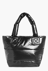 Boohoo Skye Padded Quilted Sports Holdall Black