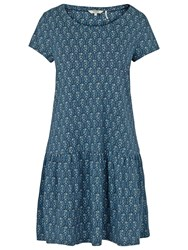 Fat Face Mabel Trailing Ditsy Dress Navy