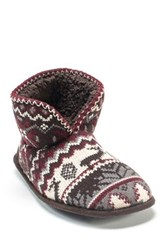 Muk Luks Mark Faux Fur Slipper Brown