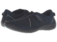 Clarks Asney Slip On Navy Nubuck Women's Slip On Shoes Blue