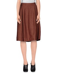 True Tradition Skirts Knee Length Skirts Women Brown