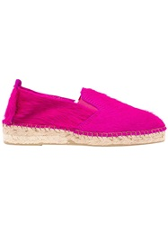 Prism Leopard Printed Ponyskin Espadrilles Pink And Purple
