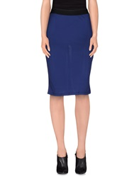 Les Copains Knee Length Skirts Blue