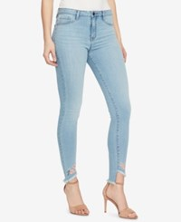 William Rast High Waisted Embroidered Skinny Jeans Jem