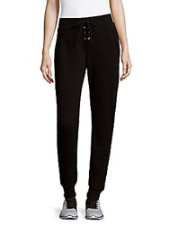 Betsey Johnson Cotton Jogger Pants Black