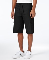 Sean John Men's Big And Tall Lightweight Cargo Shorts Pm Black