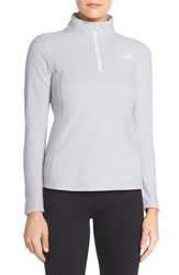 The North Face Women's 'Glacier' Quarter Zip Pullover Tnf Light Grey Heather