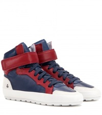 Isabel Marant Bessy Leather Sneakers Blue