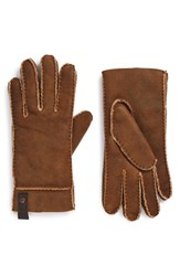 Men's Ugg Australia Genuine Shearling Gloves Bomber Chestnut
