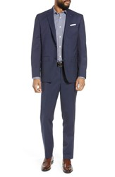 Ted Baker London Jay Trim Fit Check Wool Suit Navy