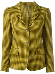 Etro Houndstooth Blazer Yellow Orange