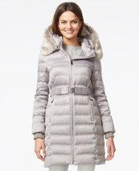 Dkny Quilted Down Puffer Parka Jacket Platinum