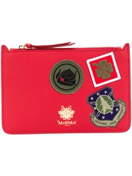 Mr And Mrs Italy Patched Flat Clutch Red